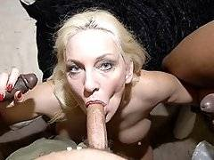 interracial mom fucking movies - We feed this mature slut loads of black cocks and cum