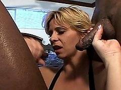 interracial mom fucking movies - White woman with a great bod gets double chocolate cocks
