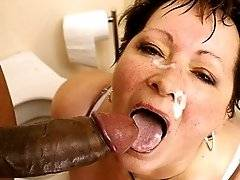 interracial mom fucking movies - This big titted mature slut gets a mouth full of cum