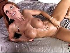 interracial mom fucking movies - Black dude fucks hot milf. He feels he is about to blow and pulls out. Horny milf waits for hot cum so she tenders her pussy and eagers to feel spunk