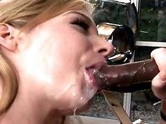 interracial mom fucking movies - Pretty white girl working a black schlong like a pro