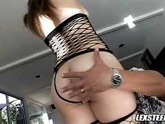 interracial mom fucking movies - Brunette Babe Charlotte Vale Gets Double Plowed By Two Big Dicks!