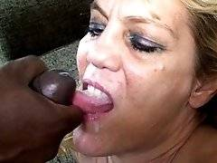 interracial mom fucking movies - This mature slut loves her cocks to be black