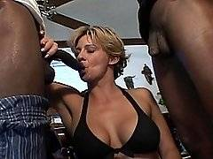 interracial mom fucking movies - Busty blonde hottie Sheridan gets slammed with black cock