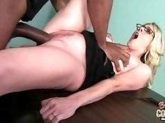 interracial mom fucking movies - Ebony bastard likes to touch her astonishing tits