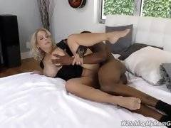 interracial mom fucking movies - Robby`s watched his mom flirt with all his friends, and he knows his mom and dad don`t even sleep in the same room anymore.